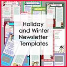 Newsletter Templates - Winter and Holiday  - Easy to Use -