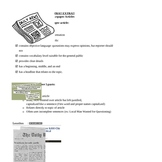 Newspaper Article - basic parts