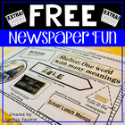 Newspaper Fun {Freebie}