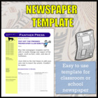 Newspaper Template for School Newspaper / Newspaper Club