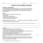Newtons Laws Activity Packet