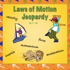 Newton's Laws of Motion Jeopardy Powerpoint with Momentum