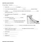 Newton's Laws of Motion Notes Sheet
