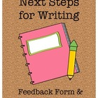 Next Steps for Writing Feedback Form & Data Analysis Chart