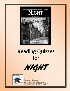Night Reading Quizzes - Entire Novel
