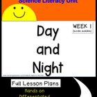 Day and Night Science Unit for Kindergarten and First Grad