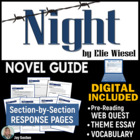 Night by Elie Wiesel - Student-Ready Novel Guide with Comm