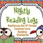 Nightly Reading Logs for EVERY 4th Grade Common Core Readi
