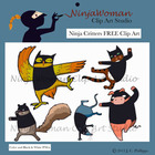 Ninja Critters FREE Clip Art
