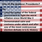 Nixon:  One of the Greatest Presidents?