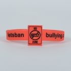 No Bullzing Zone Wristbands - Red, 1/2&quot; (Pack of 10)