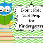 No Fret Kindergarten Test Prep for Promethean Boards