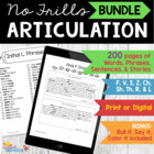 No Frills Articulation Bundle