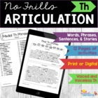 No Frills Articulation- TH