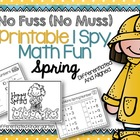 No Fuss No Muss Printable I-Spy Math Fun for Spring-Differ