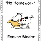 No Homework Excuse Binder