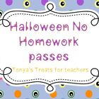 No Homework Halloween Passes