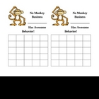 No Monkey Business Behavior Chart