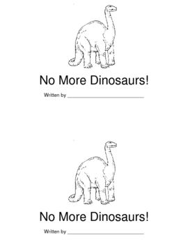 No More Dinosaurs Book