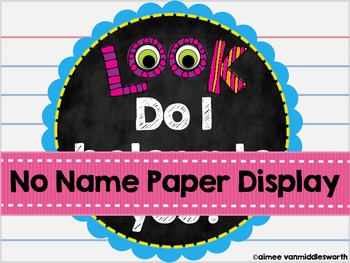 No Name Paper Display