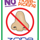 No Nose-Picking Zone! {Free Poster}