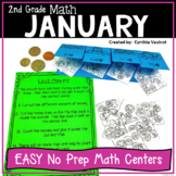 No Prep MATH Centers for January {2nd Grade}