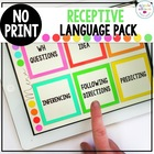 No Print Receptive Language Pack