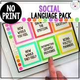 No Print Social Language Pack
