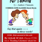 NO TALKING: Common Core Aligned Novel Study Unit