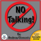 No Talking Novel Unit CD ~ Common Core Standards Aligned!