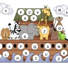 Noah&#039;s Ark Capital Alphabet Mat