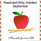 Non-Fiction Common Core Read-and-Write Activities: September