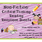 Non-Fiction: Critical thinking response sheets