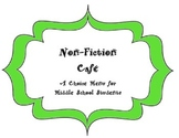 Non-Fiction Enrichment/Choice (Cafe) Menu