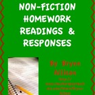 Non Fiction Homework Readings & Responses