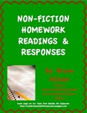 Non-Fiction Homework Readings & Responses