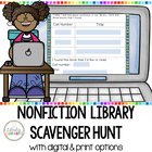 Non-Fiction Library Scavenger Hunt Cards