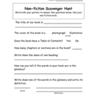 Non-Fiction Scavenger Hunt