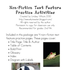 Non-Fiction Text Feature Practice