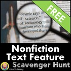 Non-Fiction Text Feature Scavenger Hunt For All Subjects