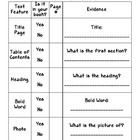Non-Fiction Text Features Graphic Organizer