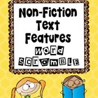 Non Fiction Text Features Word Scramble