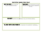 Non-Fiction Think Sheet