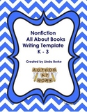 Non Fiction Writing Template -- All About Books