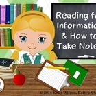 Non-Fiction and How to Take Notes (writing, main idea, det