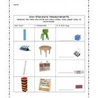 Non-Standard Item Measurement Worksheet/Record Sheet