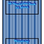 Non fiction Book template Lined aligns with Common Core In