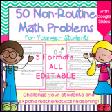 Non-routine Math Challenge Problem Solving Task Cards - fo