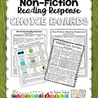Reading Response Choice Board Bundle {Non-Fiction & Fiction}