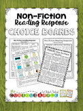 Non - Fiction Reading Response Choice Board {BUNDLE}